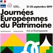 Affiche générique - Journées européennes du patrimoine 2019 A4 © Playground - Ministère de la Culture